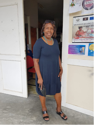 Rosemary Elizabeth, the project coordinator and WASO Chairperson