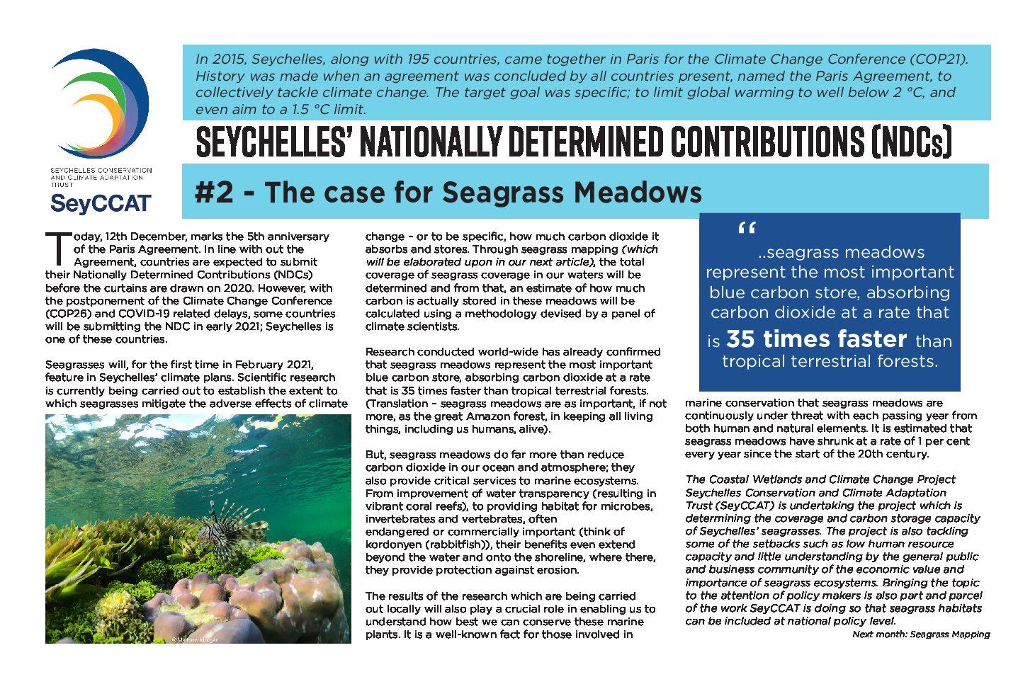 SeyCCAT commemorates 5th anniversary of Paris Agreement